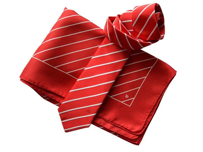 Krawatten und Tücher aus italienischer Seide für die Sparkasse Hannover