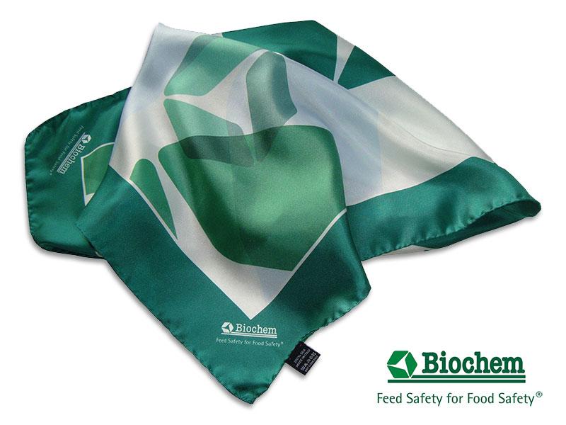 Referenzen individuell gestalteter Krawatten Individuelle Tücher Biochem