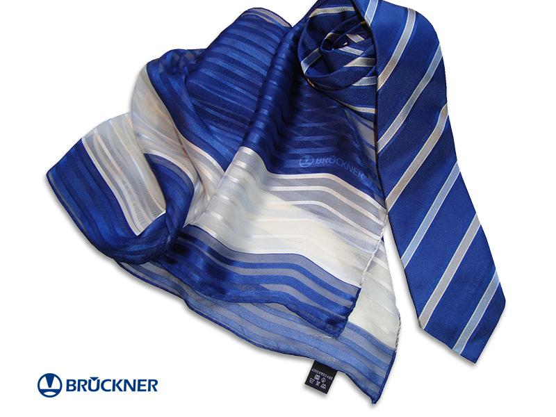 Individuell gewobene Krawatten und bedruckte Seidenschals Brueckner Textil