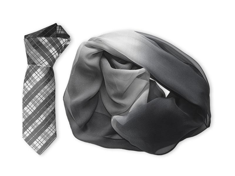 Bedruckter Loop-Schal im dekorativen Farbverlauf - Corporate Design