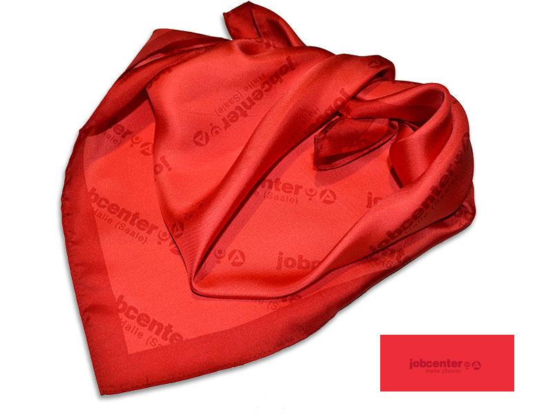 Referenzen individuell gestalteter Krawatten Mitarbeitertuch Jobcenter