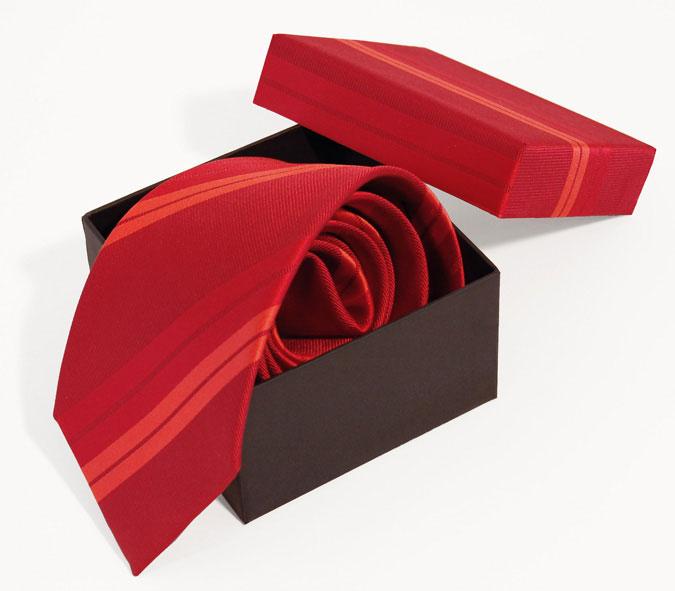 tie-box Krawatte gerollt