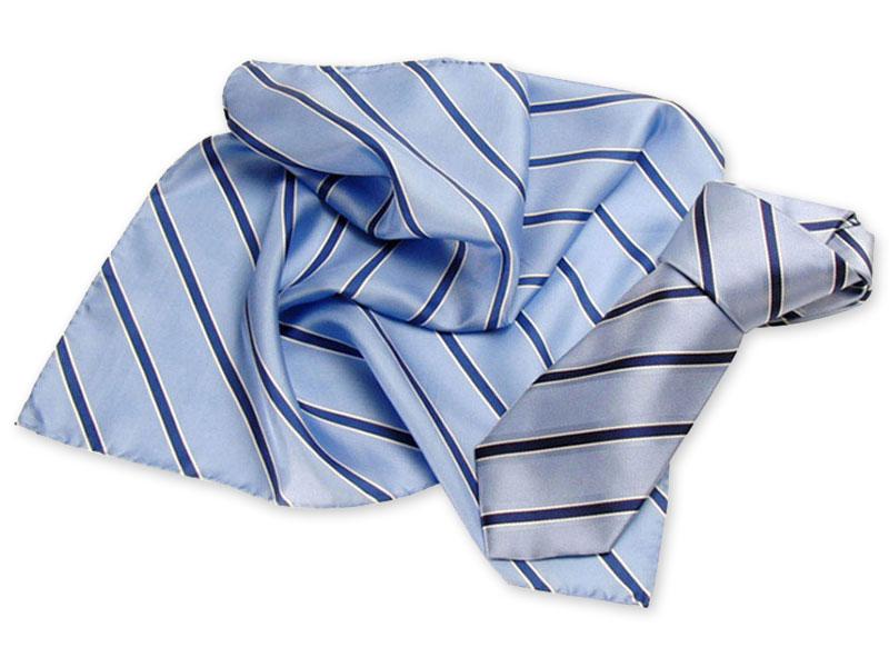 Gewobene Seidenkrawatte mit passendem Loop-Schal
