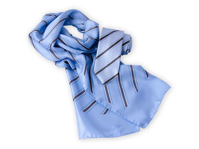 Seidenkrawatte mit passendem Schal