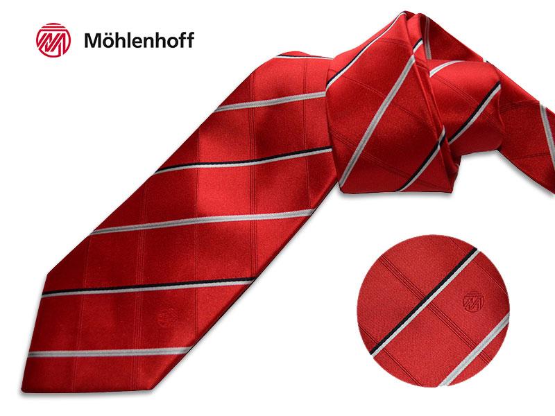 gewobene Seidenkrawatten mit Logo Moehlenhoff