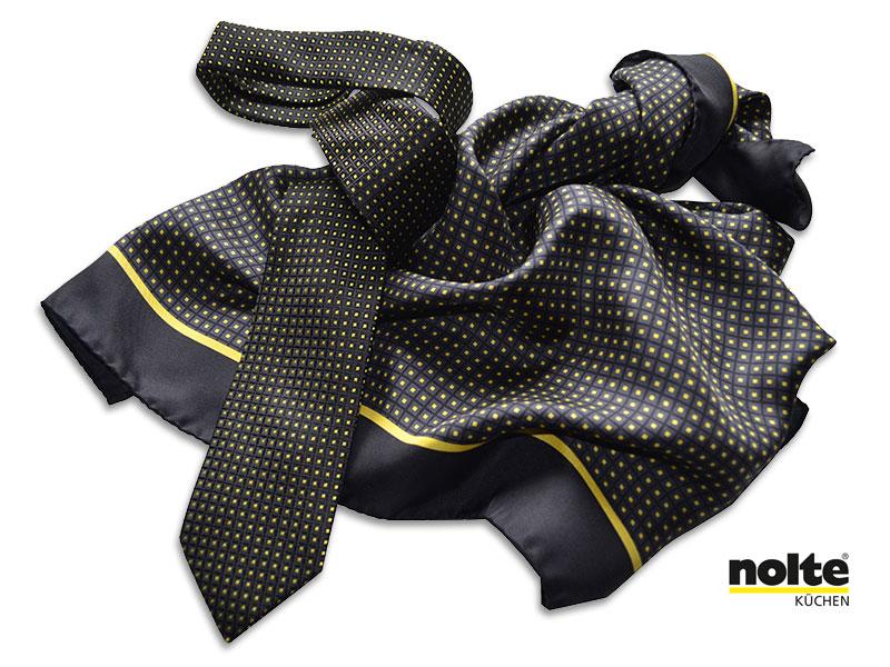 Referenzen individuell gestalteter Krawatten Messekrawatten Messetücher Nolte-Kuechen