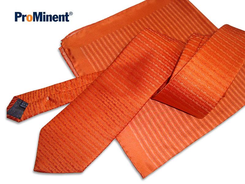 Krawatte mit Logo Seide Prominent