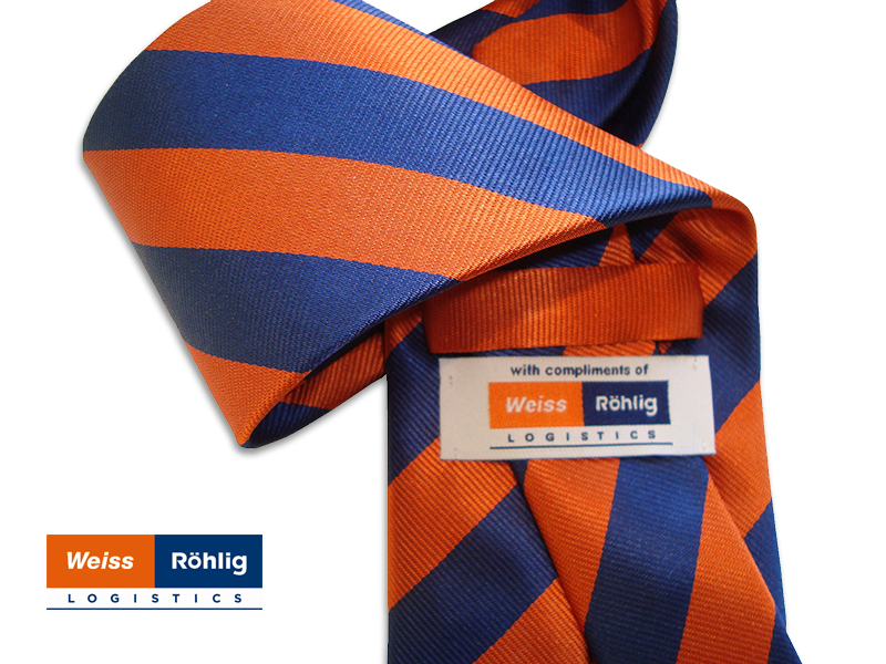 Referenzen Firmenkrawatten mit Logo, Company-Tie Roehlig Logistics
