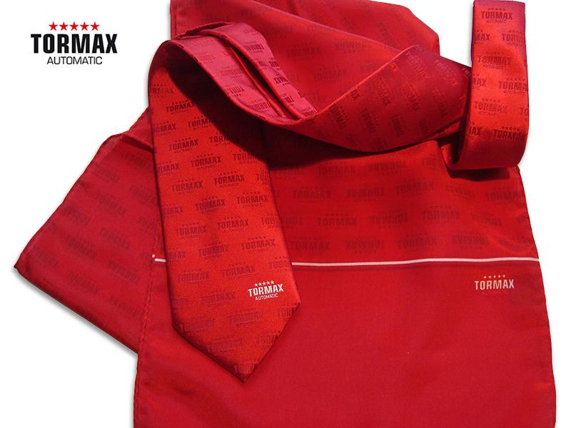Businesskrawatte Seide mit individuellem Schal Tormax