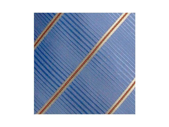 Krawatten und Tücher für Volksbanken und Raiffeisenbanken in Hausfarben blau-orange