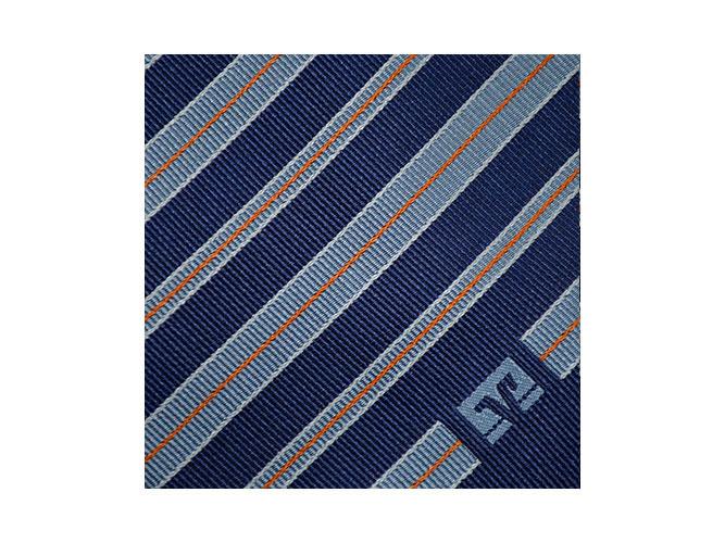 gewobene Krawatten mit Logo mit passenden Tüchern für Volksbanken