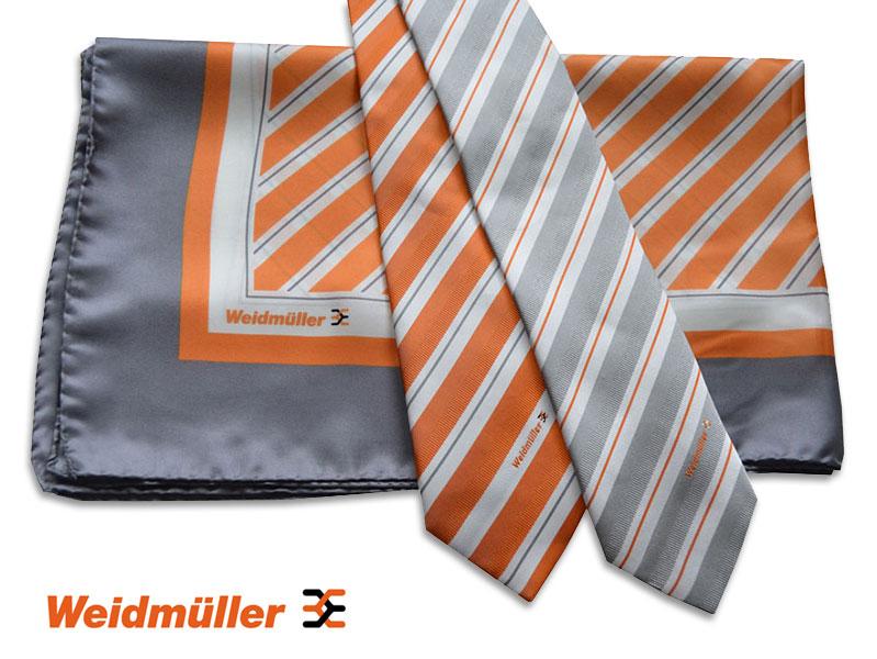 Individuell gewobene Krawatten und bedruckte Tücher Weidmueller