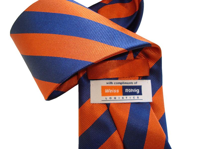 Krawatten mit Logo - Personalisierte Firmenkrawatten, Referenzen Firmenkrawatten mit Logo, Referenzen individuell gestalteter Krawatten