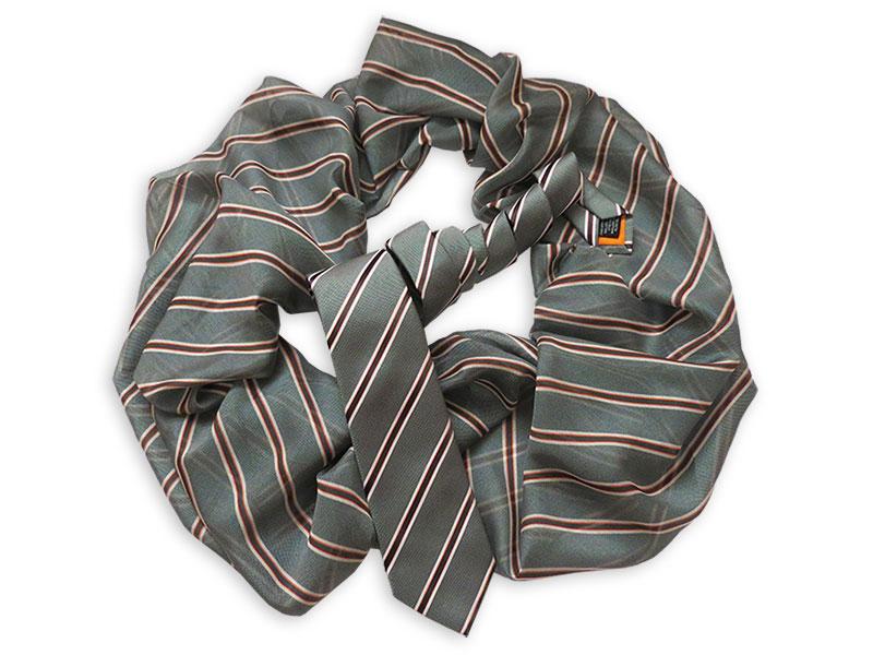 Gewobene Krawatte TORONTOmit passendem Loop-Schal oder Twilly