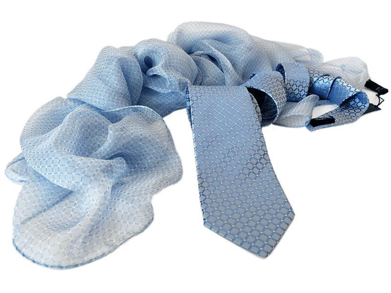 Gewobene Seidenkrawatte mit passendem Loop-Schal, Schal oder Tuch