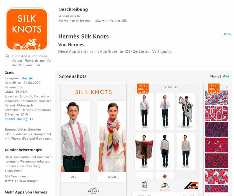Unser Tipp: die App von Hermès – die besten Knoten für Tücher