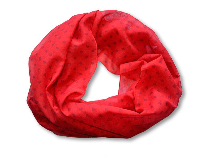 Schal im Sparkassen-Design