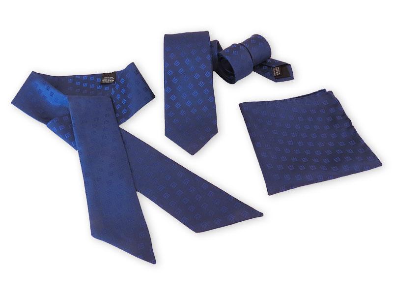 Krawatten, Twillies und Einstecktücher mit Firmenlogo als Streumuster