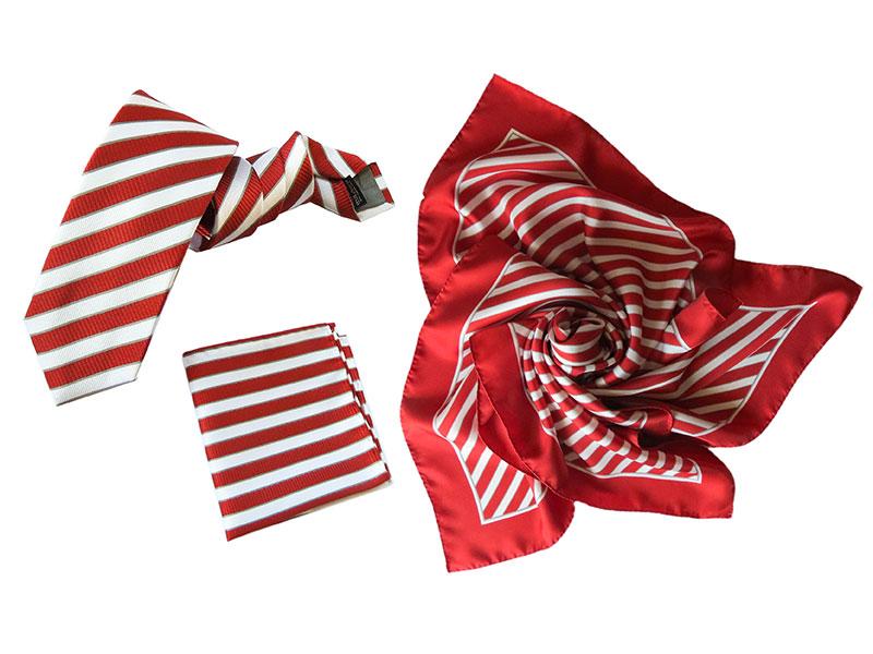 Neue Krawatten und Tücher im Corporate Design für Banking Partner