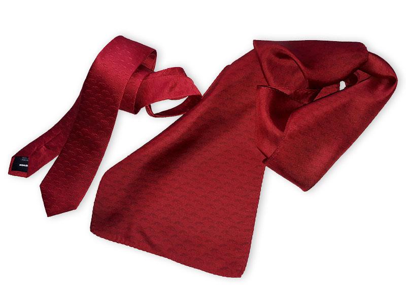 Slim-Krawatte mit passenden Schals in Firmenfarben
