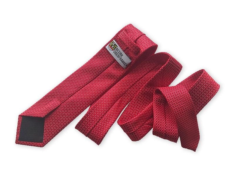 Krawatten mit individuellem Label für den Bezirk Oberfranken