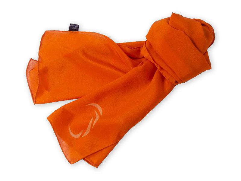 Schals für alle Mitarbeiter im Corporate Design