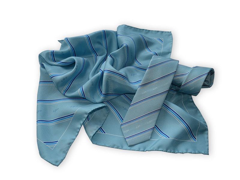 Krawatten und Tücher mit Logo für APV
