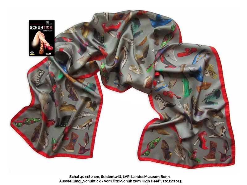 Museumsshop-Ausstellung-Schal-Seide-Schuhtick-Bonn Art & Fashion - Tücher Schals für Museumsshop