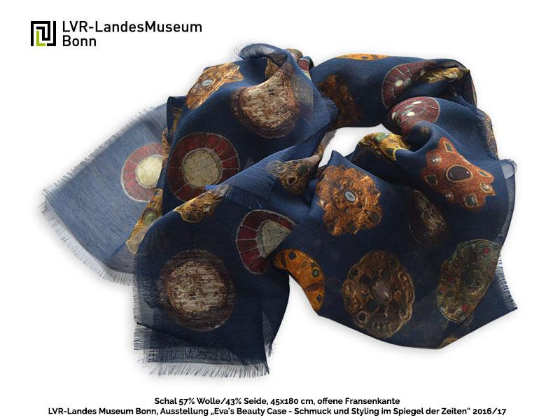 Art & Fashion - Tücher Schals für Museumsshop Schal-LVR-Museum-Wolle-Seide-Digitaldruck-Evas-Beauty-Case