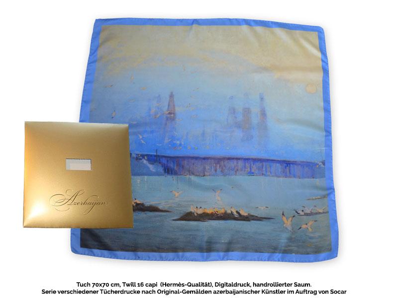 Art & Fashion - Tücher Schals für Museumsshop Seidentuch-nach-Gemälde-mit-handrolliertem-Saum